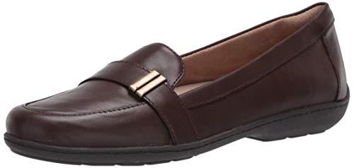 SOUL Naturalizer Women's KENTLEY Slip-on Loafer Flat, Brown Leather, 9