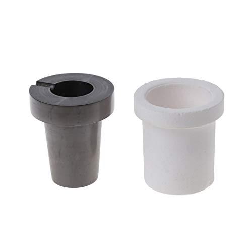 Boji Silicone Moulds, Epoxy Resin Moulds, 2 Pieces 300 g Graphite Quartz Melting Pot Gold Silver Oven Cast Cup Kit