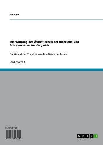 Die Wirkung des Ästhetischen bei Nietzsche und Schopenhauer im Vergleich: Die Geburt der Tragödie aus dem Geiste der Musik