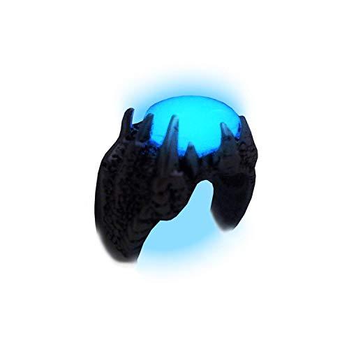 Mage's Luminous Glow in the Dark Dragon Ring - Dragon Claw Ring - Dragon Skin Jewelry