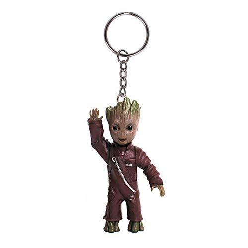 Baby Groot Schlüsselanhänger - Marvel Action-Figur aus Guardians of The Galaxy I AM Groot (Hallo)