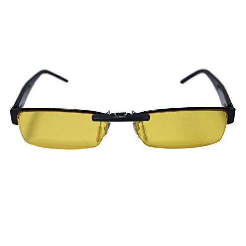 Custom Polarized Clip on Sunglasses For Ray-Ban RB6182 53x17 (Yellow)