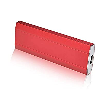 External Hard Drive 1TB 2TB, Portable Hard Drive External for PC, Laptop and Mac (Red-1TB)