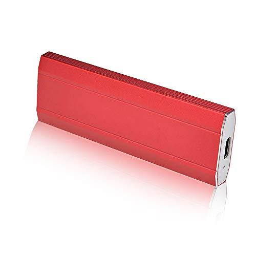 Disque Dur Externe 1to 2to USB 3.1 pour PC, Mac, Ordinateur de Bureaup,Ordinateur Portable,Chromebook, Xbox 360 (Red-1TO)
