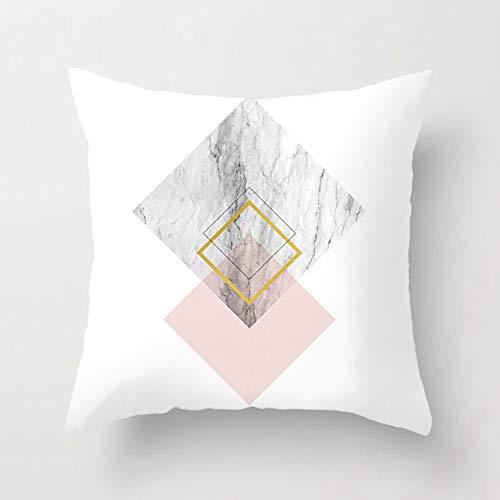 Housse De Coussin 45×45cm Couleur Polyester Jet Taie d'oreiller Marbre Nuances Embellies Lignes Art GéOméTrique - DéCoration De Maison,E