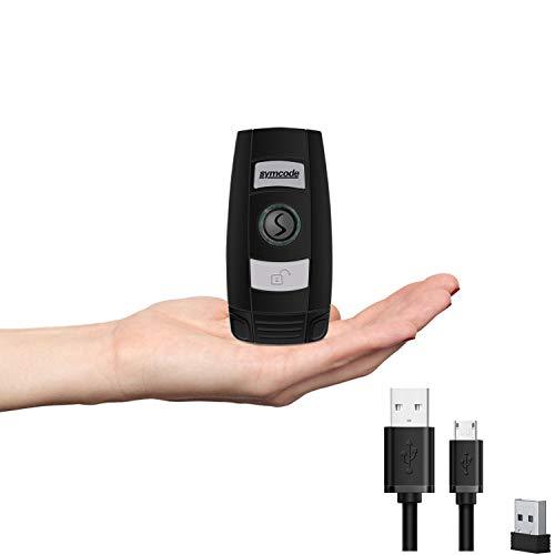 Symcode バーコードリーダー 小型 2次元 1次元 液晶読取対応 手持ち式 ミニ バーコードスキャナー Bluetooth ワイヤレス 2.4G 無線 USB 有線 パソコン IOS Androidに対応 店舗 オフィス 物流 倉庫 図書館などに適用