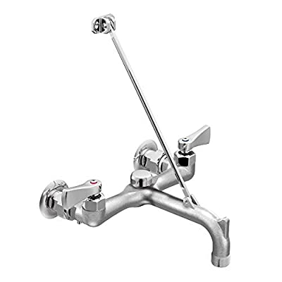 Moen 8230 Commercial M-DURA Two-Handle Service Sink Faucet with Vacuum Breaker, Rough Chrome
