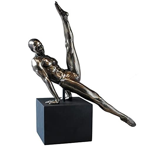 Body Talk Yoga Sculpture Homme - Athlète sur le piédestal, Resin - # 74989
