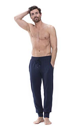 Mey Loungewear Club Coll. Herren Homewear Hosen Blau L