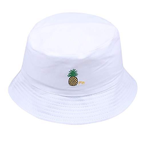 WMA Kapelusz rybacki moda czapka przeciwsłoneczna kapelusz kapelusz hip-hop letnie kapelusze - białe, polskie, jeden rozmiar