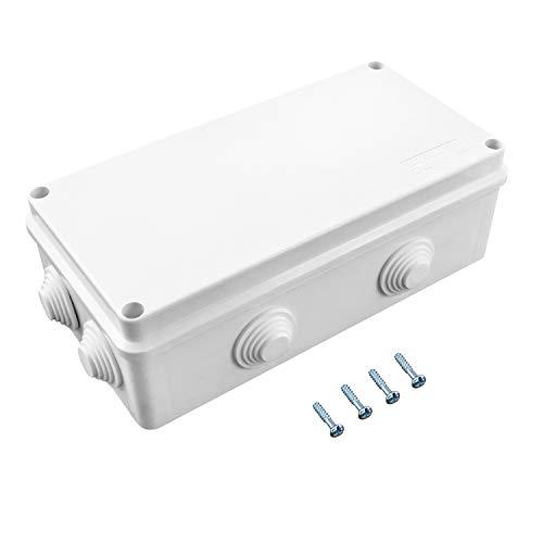 QWORK Caja de derivación , para exterior iluminación cable de conexión eléctrica...