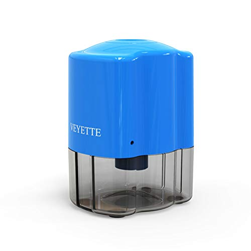 Electric Pencil Sharpener,VEYETTE Efficient Pencil Sharpener with Helical Blade for No.2 Pencils and Colored Pencils, Adapter Included, Blue