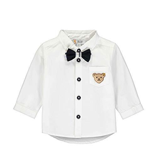 Steiff Jungen Langarm Hemd, Weiß (Bright White 1000), 80 (Herstellergröße: 080)