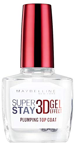 Maybelline New York Nagellack, Transparenter Überlack, Super Stay 3D Gel Effect Plumping Top Coat, 10 ml