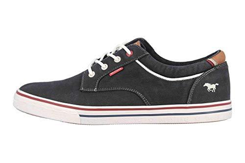 MUSTANG Shoes Halbschuhe in Übergrößen Schwarz 4147-303-9 große Herrenschuhe, Größe:48