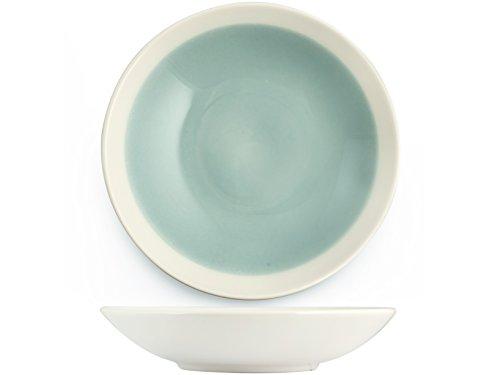 H&H Soleil Assiette Creuse Terre Cuite Bleu