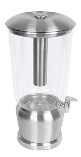 BirdRock Home 5 Gallon Stainless Steel Beverage Dispenser with Ice Container, Spigot - Round -...