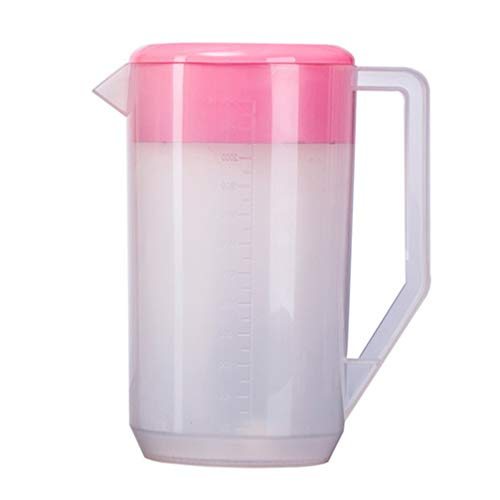 Affordable Hemoton Large Plastic Pitcher with Lid High Temperature Resistant Mix Drinks Water Jug Me...