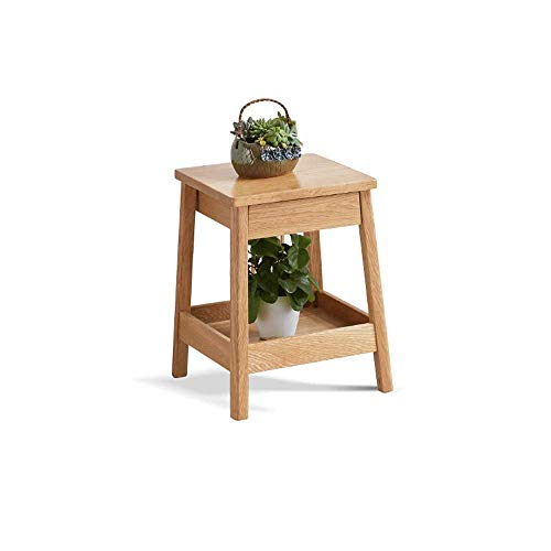 CHEXIAOhuapen Flower Pot Stand Indoor - Solid Wood Multi-Layer Flower Stand Modern Shelf Nordic Flower Pot Stand With Drawer,For Indoor Outdoor Home Patio Balcony Living Room Huajia