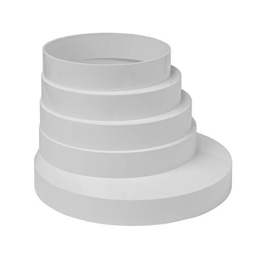 Vent Systems Adaptador universal de tubo reductor de conducto de plástico de 3 4 5 6 pulgadas, reductor de tubería de plástico HVAC PVC ABS plástico 80 – 150 mm