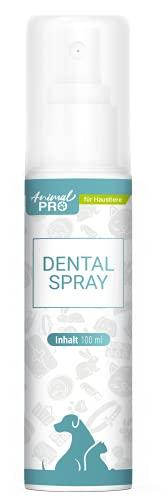 Animal Pro - Dental Spray - 100 ml / Zahnpflege Hunde, Hund & Welpen, Katzen & Kitten / natürliche Zahnreinigung / Plaque & Zahnstein entfernen / gegen Mundgeruch / Maulgeruch