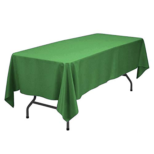Sunnolimit Rectangle Tablecloth - 60 x 102 Inch - Green Rectangular Table Cloth for 6 Foot Table in Washable Polyester - Great for Buffet Table, Parties, Holiday Dinner, Wedding & More