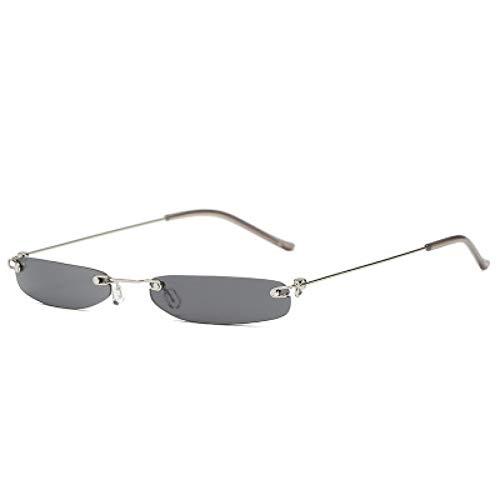CHENG/ CHENG Sonnebrille Mode Frauen Sonnenbrillen Schwarz Lila Trendy Persönlichkeit Kleine Quadratische Männer Sonnenbrille Klare Linse Gläser