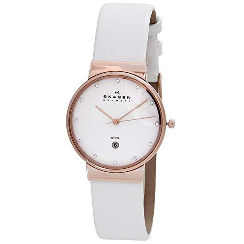 Reloj 355LR-LW analógico de Cuarzo para Mujer. Color Oro Rosa. Skagen
