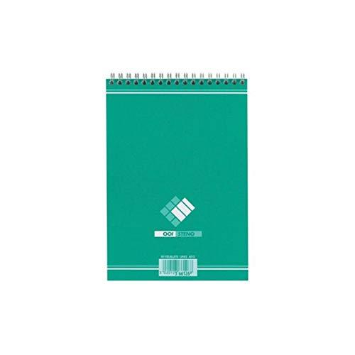 Oxford 21734 Bloc Bureau A5 Sténo Reliure Intégrale 148 x 210mm Papier Vert
