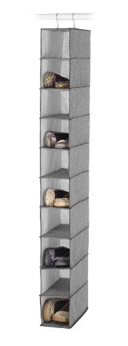 Whitmor Hanging Shoe Shelves - Crosshatch Gray
