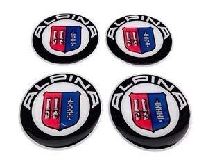 BS Alpina ★4 Stück★ 65mm Aufkleber Emblem für Felgen Nabendeckel Radkappen