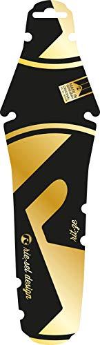 Riesel Design - rit:ze - Mudguard für den Sattel/Rennrad Schutzblech hinten - einfach installierbares Fahrrad Schutzblech/Designer Hinterrad Steckschutzblech & für Jede Radgröße - Gold