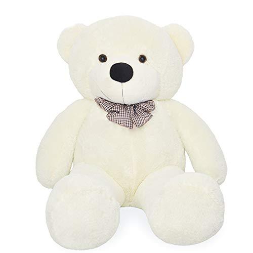 VERCART Giocattoli di Peluche Bambino Orsacchiotto Gigante Orso Bambola Morbida Regalo di Compleanno Fidanzata Bianco 100CM