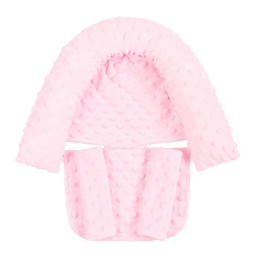 LUDAXUE Soporte de cabeza de asiento de automóvil soporte de cabeza de bebé y cubiertas de correas para bebés reposacabezas y cuello de cuello de cuello para cuello de cuello para niños almohadilla de