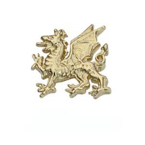 Pince à cravate 11x11mm en Or Jaune 9ct - 375/1000 dragon gallois