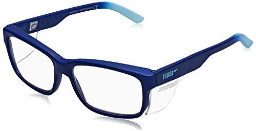 Pegaso Work and Fun Brille gegen impactó Objektiv mit Pre Sehstärke, mehrfarbig (Blau/Hellblau), +1.5, L