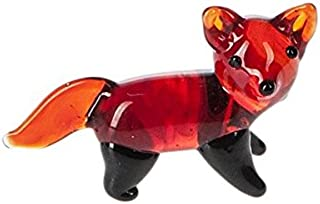 Miniature Glass Fox Figure - By Ganz