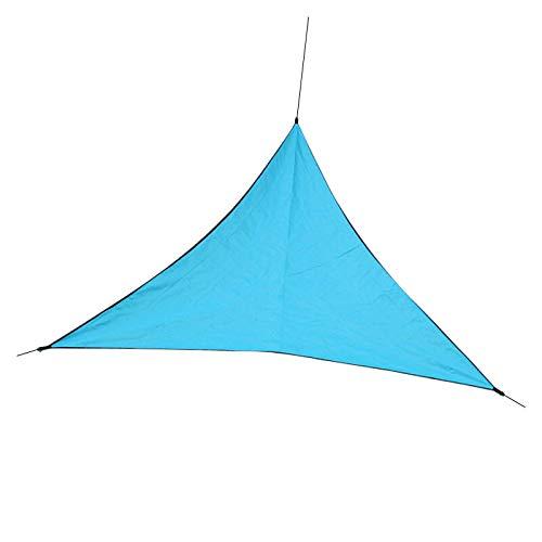 Toldo de vela de 3/4/6 m para exteriores, triángulo, impermeable, para exteriores, para jardín, patio, fiesta, playa (tamaño: 3 m, color: azul cielo)