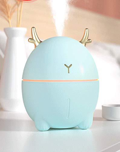 MO-UK 【2020 actualizado】 Humidificadores Mini Humidificador USB Silencioso Humidificador para Dormitorio Bebé Niño Coche Lindo Personal Pequeño Humidificador (Verde Claro