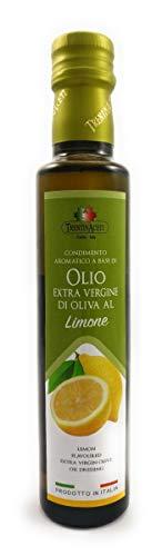 Extra Natives Olivenöl mit natürlichen Zitronenaroma - 1x250 ml - Italienisches Zitronen Olivenöl in höchster Qualität - TrentinAceti - kaltgepresst