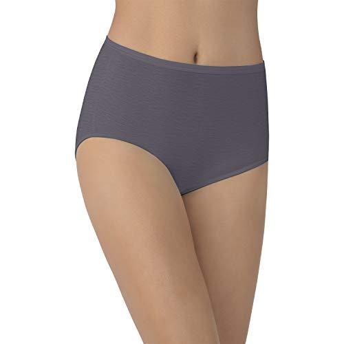 Vanity Fair Women's Illumination Brief Panties (Regular & Plus Size), Steele Violet, -