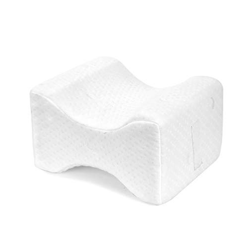 Leg Positioner Knee Pillow - Made from Memory Foam - Removable and Washable Cover - Promotes Better...