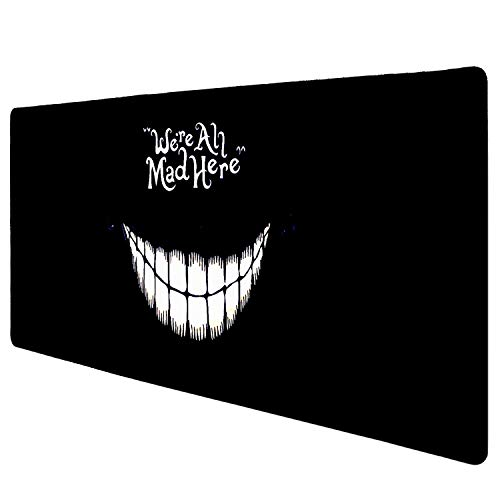 Extended Gaming Mouse Pad Mat, 35 inch Non-Slip Rubber Mousepad, Silky Smooth Surface Stitched Edges for Computer ,Laptop PC, 35 × 15.5 x 0.1 inches Rectangle