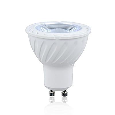 Bonlux 4-Pack MR16 GU10 Base COB LED Bulb, 6W(50W Halogen Bulbs Equivalent), 120V 40° Beam Angle LED GU10 Spotlight for Home, Landscape, Recessed, Track Lighting - Non-dimmable