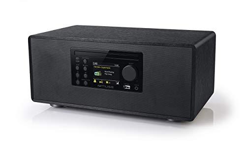 Micro système, Lecteur CD, Radio Dab+ FM PLL, Bluetooth, Muse - (M-695 DBT), écran LCD, NFC: Fonction d'appariement Automatique, 60W, Gris foncé