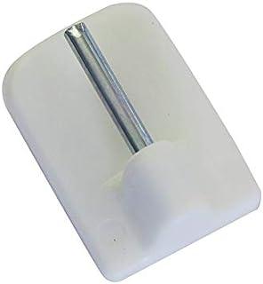 2 Parti 500 Migliori venduti Ogni Gancio Supporta Gr Ganci Adesivo Rotondo Colore Nichel Opaco per aste Tende estensibili