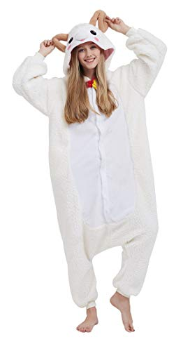 Pijama Onesie Adultos Mujer Cosplay Animal Disfraces Sleepwear Cabra M