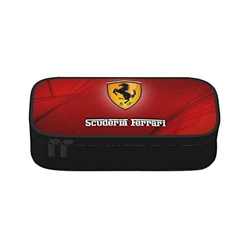 Ferrari - Estuche redondo para lápices, multicolor, apto para niños, unisex, para adolescentes, escuela, maquillaje o actividades