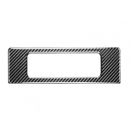 JUULLN Pegatina Player Etiqueta Aplicación Auto Adhesivo Fibra de Carbono Coche DVD Player Marco Calcomanía para Nissan 350Z 2003-2009 Logo de baúl de Metal 3D (Color Name : Black)
