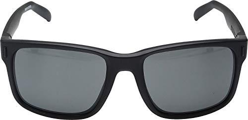 Under Armour UA Assist Wayfarer Sunglasses, UA Assist Satin Black / Black Frame / Gray Lens, 54 mm